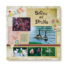 Signs of Spring Watercolor Stickers Scrapbook Layout