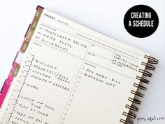 Creating a Schedule - http://jennycollier.com/creating-a-schedule/
