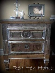 Painted Furniture & Such  -  This board has lots of DIY painted furniture examples, and other unusual painted items. Also lots of tips and how-tos on painting furniture, floors, rugs, etc. like this faux silver leaf finish tutorial -- unreal - done with pieces of aluminum foil - tutorial.