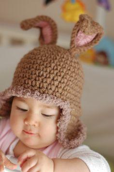 #rabbit #bunny #hat #crochet #handmade #cute #sweet #children #easter #etsy www.etsy.com/...