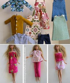 kinderpendent: handmade doll clothes ..roundup, Barbie