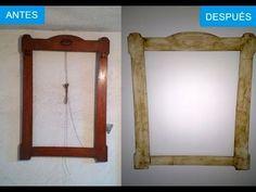 Cómo pintar o decorar un mueble blanco envejecido. - YouTube