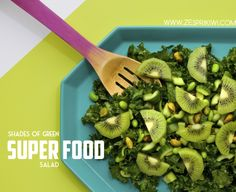 It doesn't get much healthier than this.. Kale, cucumber, edamame, & Zespri Organic Green Kiwifruit!  Zespri Shades of Green Super Food Salad!  http://zesprikiwi.com/kiwifruit-recipes/appetizers-salads/shades-of-green-super-foods-salad