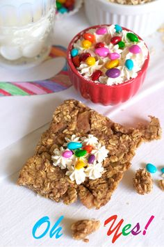 Maple Apple Pie Oat Bars with Sunflower Seed Sprinkles