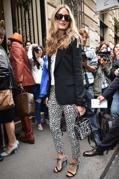 Olivia Palermo in Banana Republic pants! #CoutureWeek