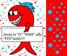 """Jesus Is """"O"""" """"FISH""""-ally """"FIN""""tastic! A free printable cutout craft for kids to do. Comes with and without words. Also comes in colored or black and white. #Fish #crafts #Bible #sunday #school #church #children #free #printable #Cutouts"""