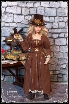 KASSANDRA ooak Steampunk lady 1:12 doll by Soraya Merino. $169.00, via Etsy.