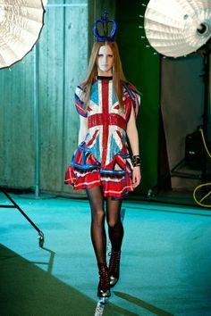 Jean-Paul Gaultier Fall 2014: Space Age Punk Union Jacks