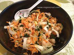 Retete vegane crude / raw vegan / retete vegane: Salata de praz cu morcov