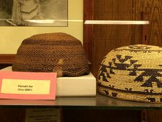 c. early 1800s Klamath Indian woven hat. From the collection of the End of the Trail Museum in Klamath, California--just across the Oregon state line). Native American Art.