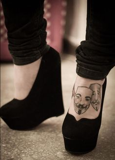 V for Vendetta masks of theater inspired tattoo