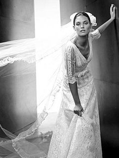wedding dressses, lace, bridal collection, valentino wedding dress, couture, brides, dress wedding, valentino bride, sleeves