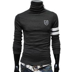 #TheLees Mens casual button turtle neck slim tshirts    Please Help Spread The Word Share Thanks! You Are Stellar! :-)