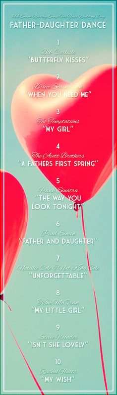 daddy daughter dance, father daughter dance wedding, wedding songs, songs for wedding slideshow, father daughter dance songs