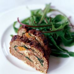 Meat Loaf Stuffed with Prosciutto and Spinach: This wonderful recipe by Mario Batali is a luxurious yet easy take on classic meat loaf that is stuffed with spinach, carrots, prosciutto and cheese.