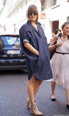 Denim Streetstyle Milan #fashion