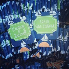 nautical wedding koozies from haymarket designs