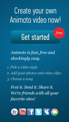 Animoto: Great for classroom technology.