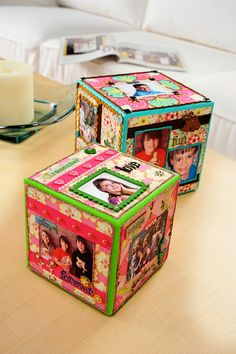Display your favorite memories and moments with Photo Cubes!