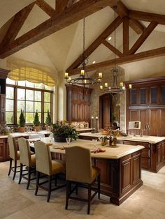 Colorado Tuscan-inspired kitchen