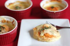 The Lucky Penny Blog: Valentine's Dinner For Two: Individual Scalloped Sweet Potatoes