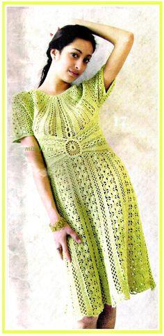 Crochet dress  Изящное платье крючком. Обсуждение на LiveInternet - Российский Сервис Онлайн-Дневников