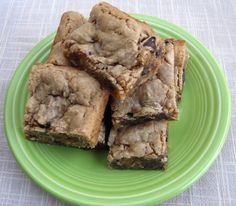 Peanut butter, chocolate chip bars