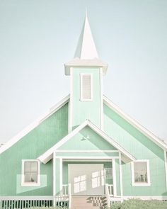 Pastel+Decor+Church+Photograph+Mint+Decor+Ke+Ola+Mau+by+BreeMadden,+$30.00