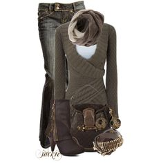 Winter Outfit #winter #fall #winter look #boots #sweater #jeans