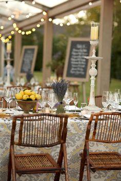 Lavender and Lemons. Beautiful, simple centerpiece/decoration ideas.