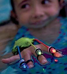 Stocking stuffer for Mo!! Can you say bathtime?  waterproof-light-up-swimray-finger-flashlights-set-of-2- toy, flashlight, fingers, kid