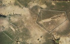 Blythe Intaglio Geoglyph - near Blythe, CA;  several figures are carved into the desert;  thought to be about 1,000 years old  (from Google Search)