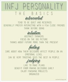 INFJ Personality: The Basics personality types, personality tests, life, stuff, close friends, writing styles, writers, introvert, sixteen type
