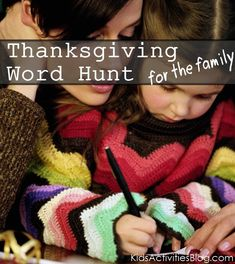 Thanksgiving Word Hunt for the Family.