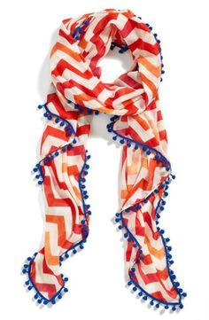 Love! Coral chevron scarf.