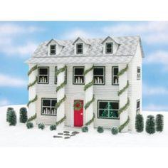 Mary Maxim - Christmas Doll House Plastic Canvas Kit - Plastic Canvas Kits - Plastic Canvas - Crafts