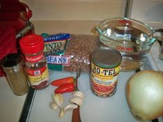 crock pots, chocolates, beer, cups, crockpot bean, chilis, crockpot pinto beans, chocolate trifle, bacon