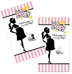 Ready To Pop Pink - Baby Shower Scratch Off Game Pack