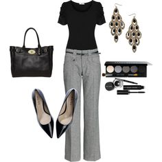 Trade out the heels for some flats and this is a perfect work outfit for school!