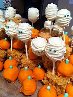Halloween cake pop treats