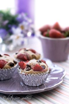 Gluten-free strawberry chocolate chip muffin recipe
