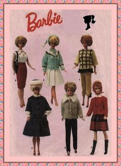 Vintage sewing and knitting pattern for Sindy/Barbie