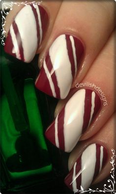 Nails: Candy Canes ♥