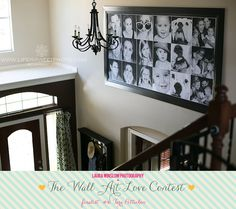 the Wall Art Love Contest Finalists :: Vote for your Favorite Wall Now! :: Laura Winslow Photography. {Wall Decor | Photo Display Idea} {Home Decor}