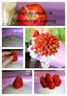 Lick The Spoon: Strawberry Topiary