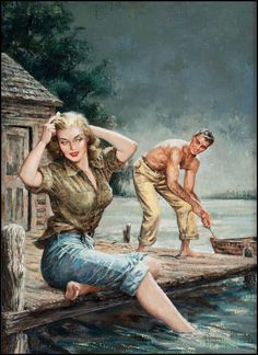 Waterfront Girl by Amos Hatter, 1952.
