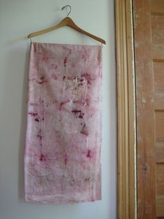 solar scarf - blackberry and lac - naturally dyed organic cotton ⎮ Julie Sinden on Etsy