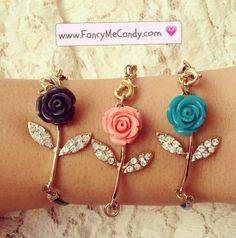 Rose bracelets! Too pretty!