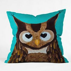 DENY Designs Mandy Hazell Owl Love You Decorative Pillow