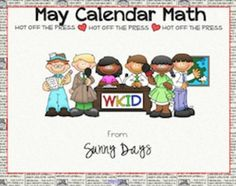 FREE Smartboard Calendar Math for May!